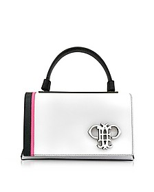 Mini Pilot Optic White Leather Shoulder Bag - Emilio Pucci