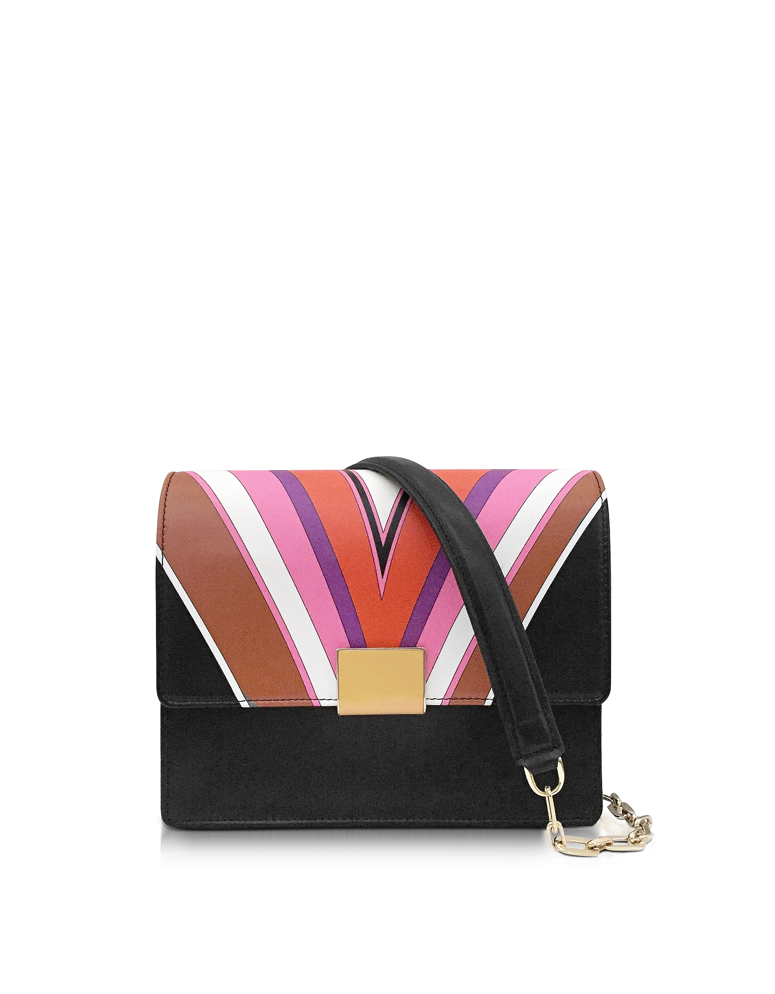 Emilio Pucci Handbags, Stella Printed Shoulder Bag