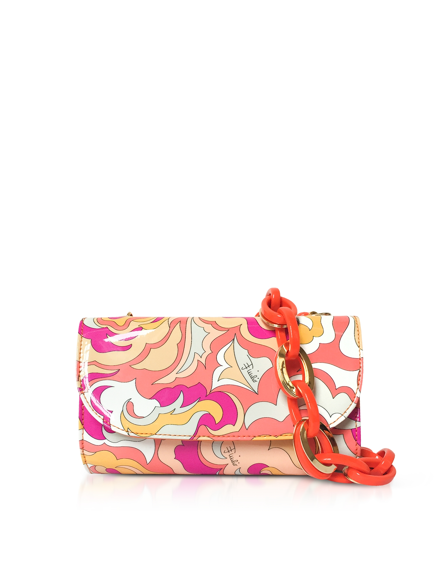 Crossbody Pouch in Pelle Pop Flower