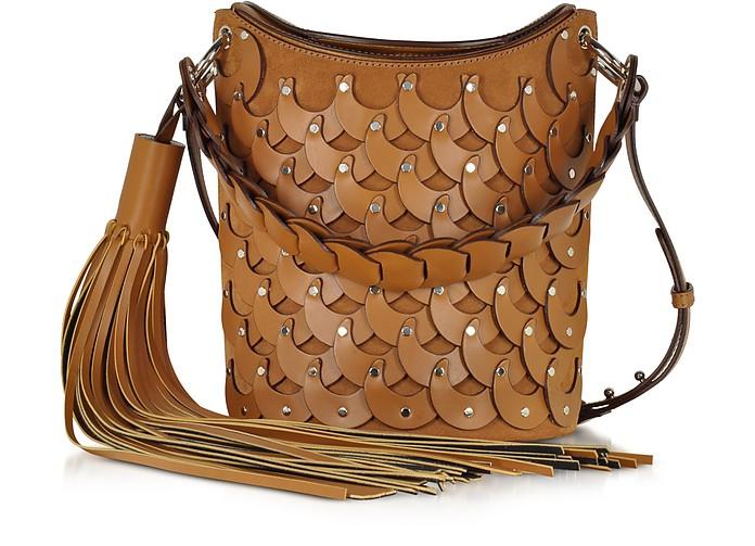 Senape Leather & Suede Shoulder Bag - Emilio Pucci