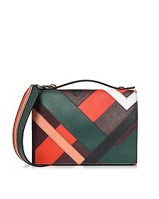 Multicolor Inlay Leather Shoulder Bag - Emilio Pucci