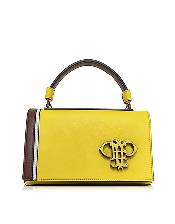 Cyber Yellow Leather Shoulder Bag