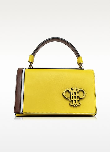 Cyber Yellow Leather Shoulder Bag - Emilio Pucci