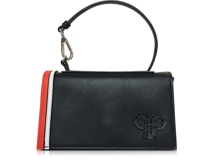 Black Leather Shoulder Bag - Emilio Pucci