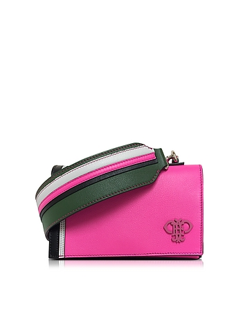 Fuchsia Leather Shoulder Bag