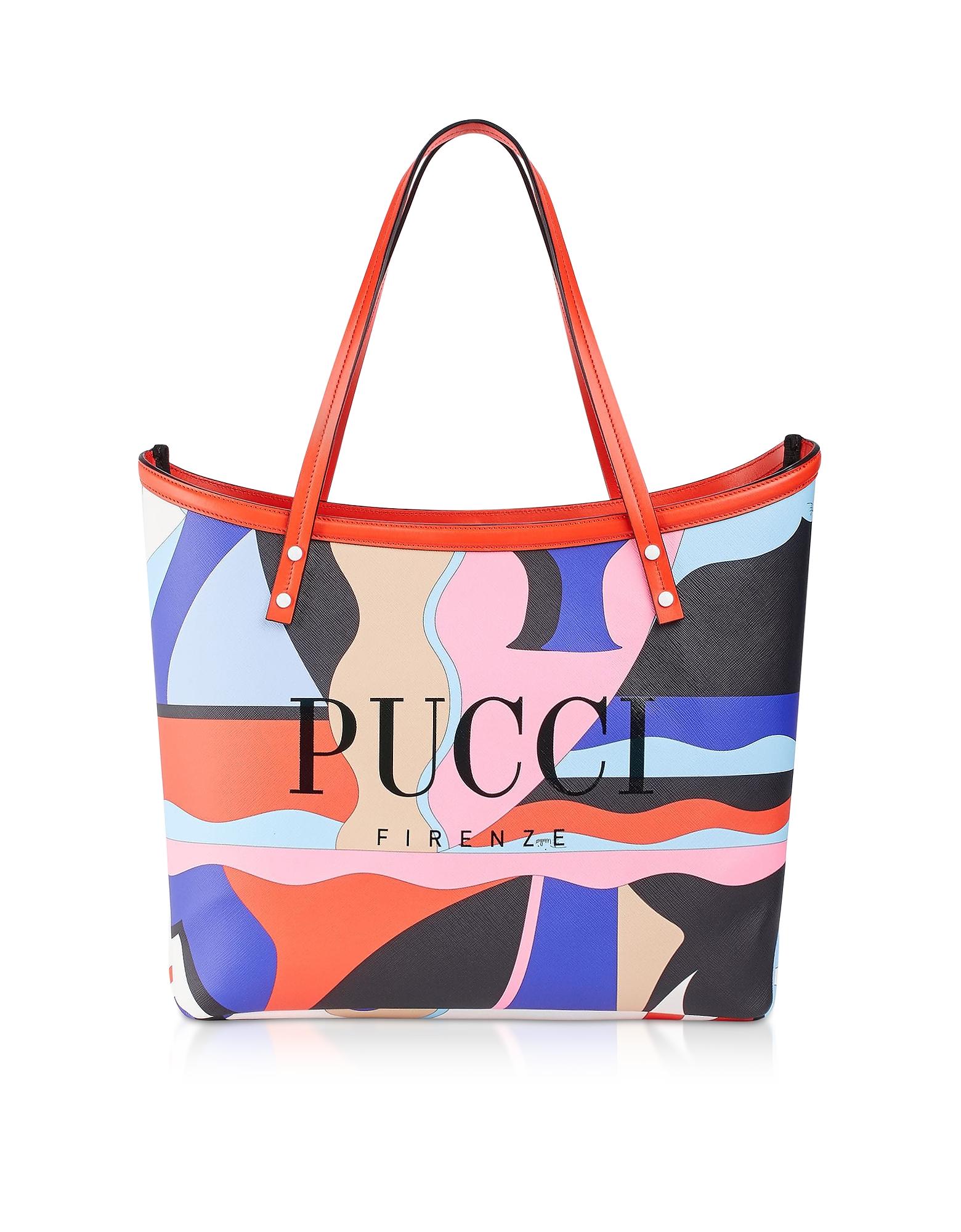 Emilio Pucci Designer Handbags, Two Tone Canvas Large Tote Bag