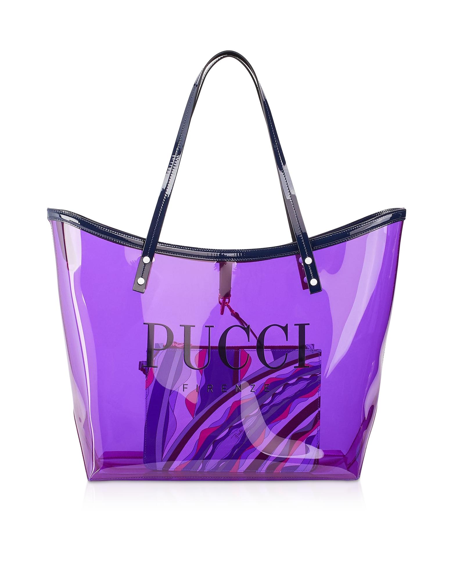 Emilio Pucci Designer Handbags, Signature Transparent Tote Bag
