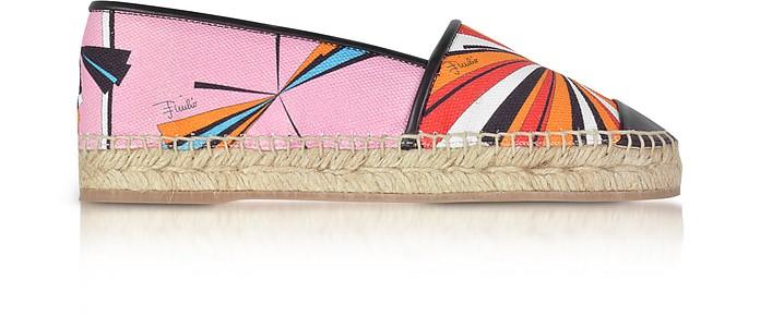 Multicolor Printed Cotton and Leather Espadrilles - Emilio Pucci
