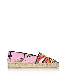 Orange Printed Cotton and Leather Espadrilles - Emilio Pucci