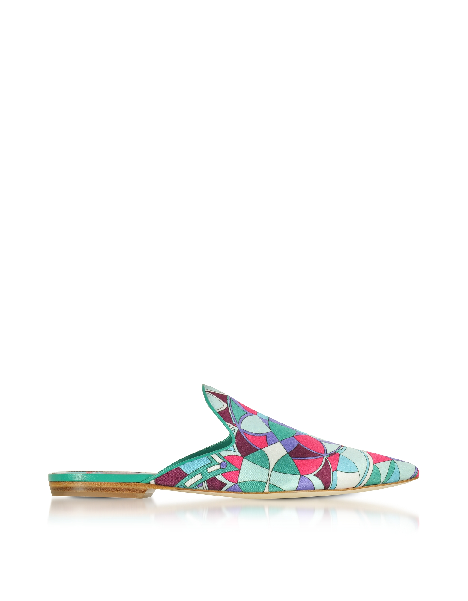 Emilio Pucci Shoes, Optical Printed Leather Slippers