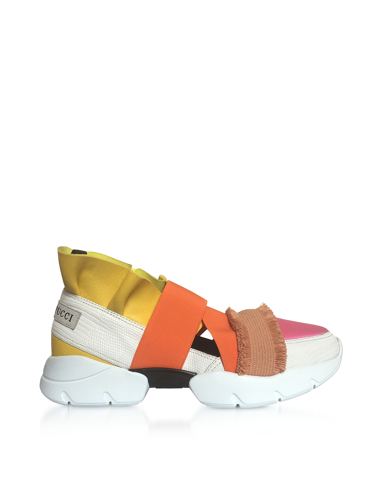 Emilio Pucci Shoes, Color Block Nappa City Up Sneakers