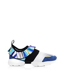 Zaffiro Printed Viscosa and Suede Sneakers - Emilio Pucci