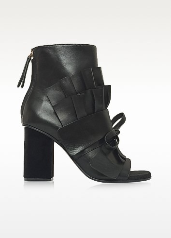 Black Leather Ankle Boot - Emilio Pucci