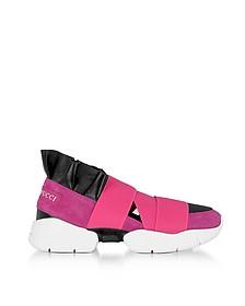 Geranio Pink Suede Sneakers - Emilio Pucci
