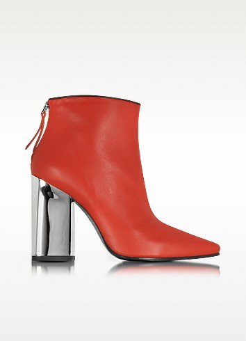 Cherry Red Leather Ankle Boot - Emilio Pucci