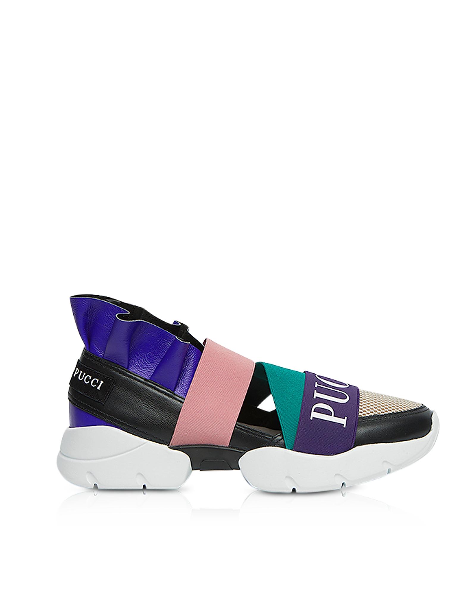 City Up Black Nylon Signature Sneakers