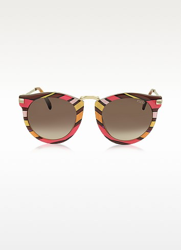 ep25 fantasy lunettes de soleil femme monture ronde en ac tate ray multicolore emilio pucci. Black Bedroom Furniture Sets. Home Design Ideas