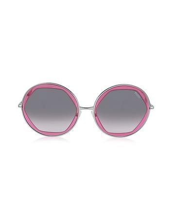 Emilio Pucci - EP36 Large Round Acetate Transparent Women's Sunglasses