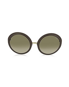 EP38 Large Oval Acetate Women's Sunglasses - Emilio Pucci