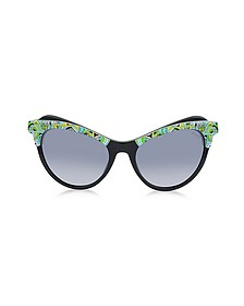 EP35 Fantasy Acetate Frame Cat Eye Women's Sunglasses - Emilio Pucci