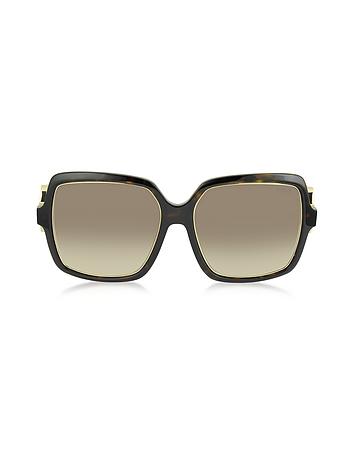 Emilio Pucci - EP40 52F Large Square Acetate Women's Sunglasses