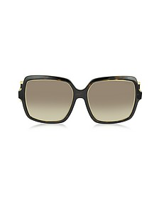 EP40 52F Large Square Acetate Women's Sunglasses - Emilio Pucci
