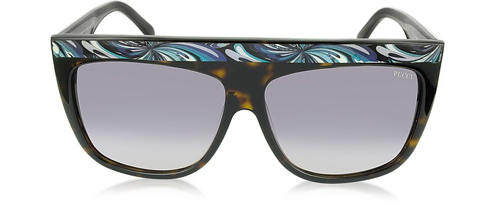 EP0008 Havana Oversize Acetate Women's Sunglasses - Emilio Pucci