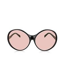 EP0030 015 Black Oversized Round Sunglasses - Emilio Pucci
