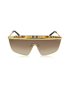 EP0007 Fantasy Metal Shield Sunglasses - Emilio Pucci