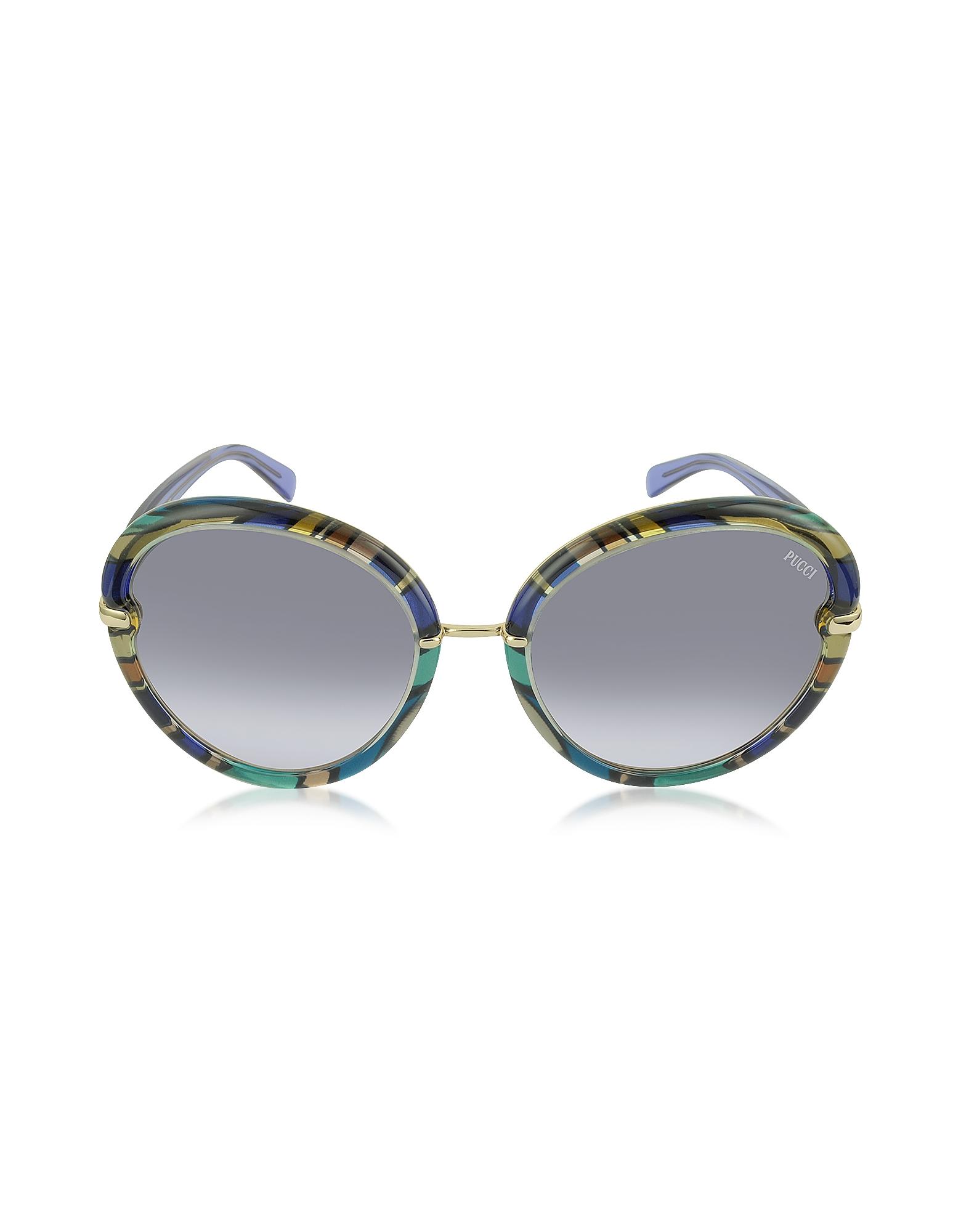 Emilio Pucci Designer Sunglasses,  EP0012 Fantasy Acetate Round Sunglasses