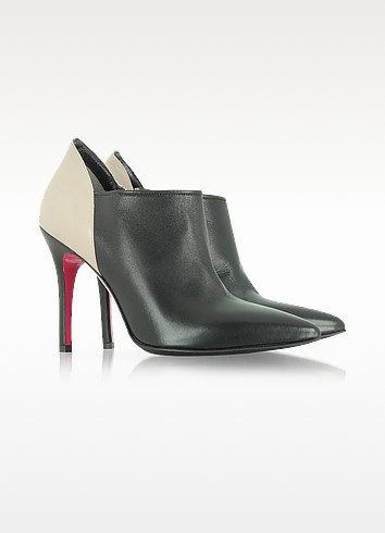 Two Tone Leather Bootie - Luciano Padovan