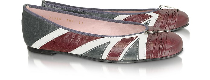 Union Jack Leather Ballerina Shoes - Pretty Ballerinas