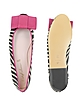 Zebra Stripe Suede Ballerina Shoes - Pretty Ballerinas
