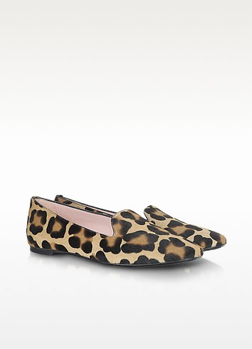 Faye - Leopard Print Pony-Hair Loafer - Pretty Ballerinas