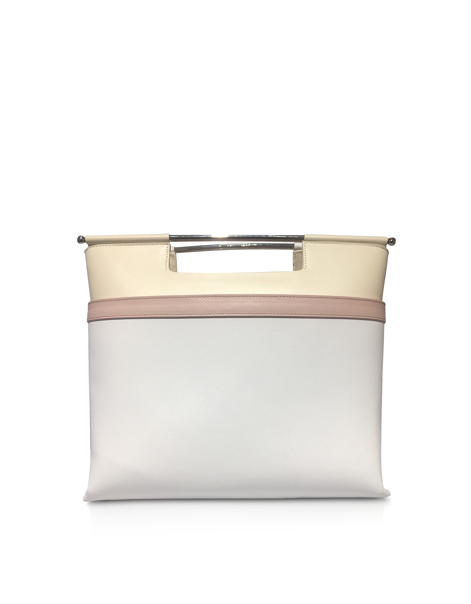 Delpozo Handbags, Color Block Leather Mid Gret Tote Bag