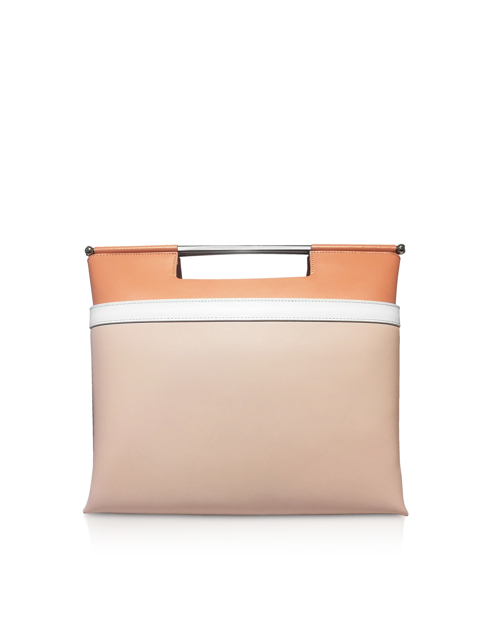 Mid Gret Borsa a Mano in Pelle Color Block