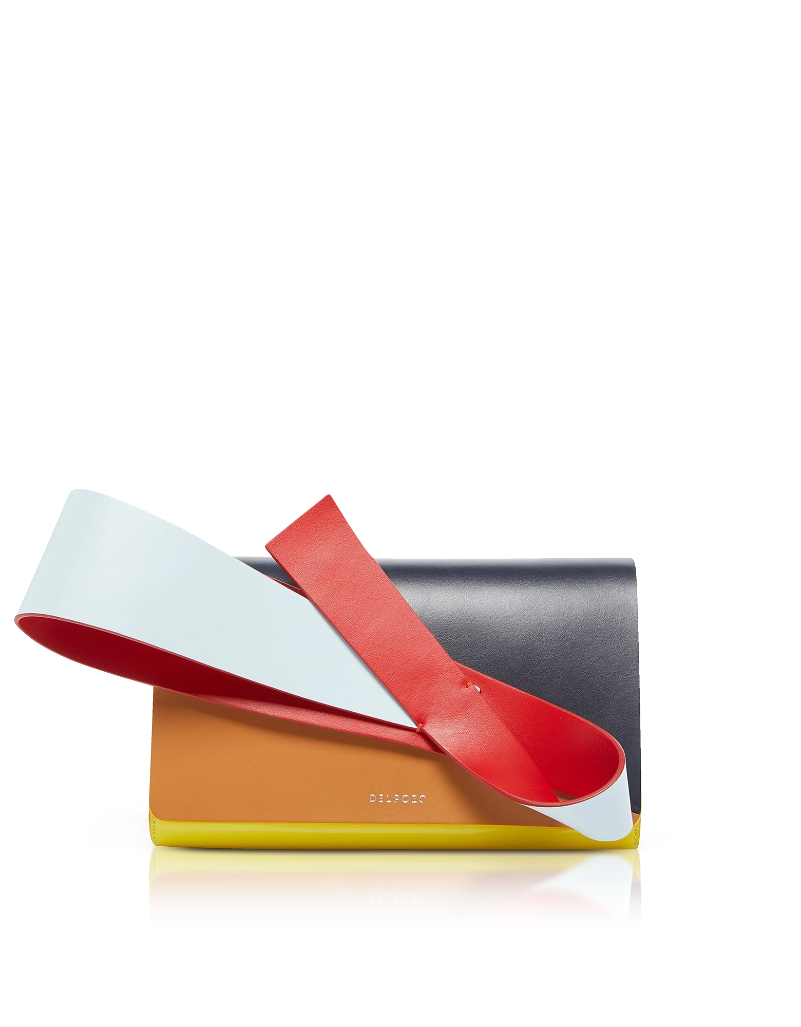 Orchid Clutch in Pelle Color Block