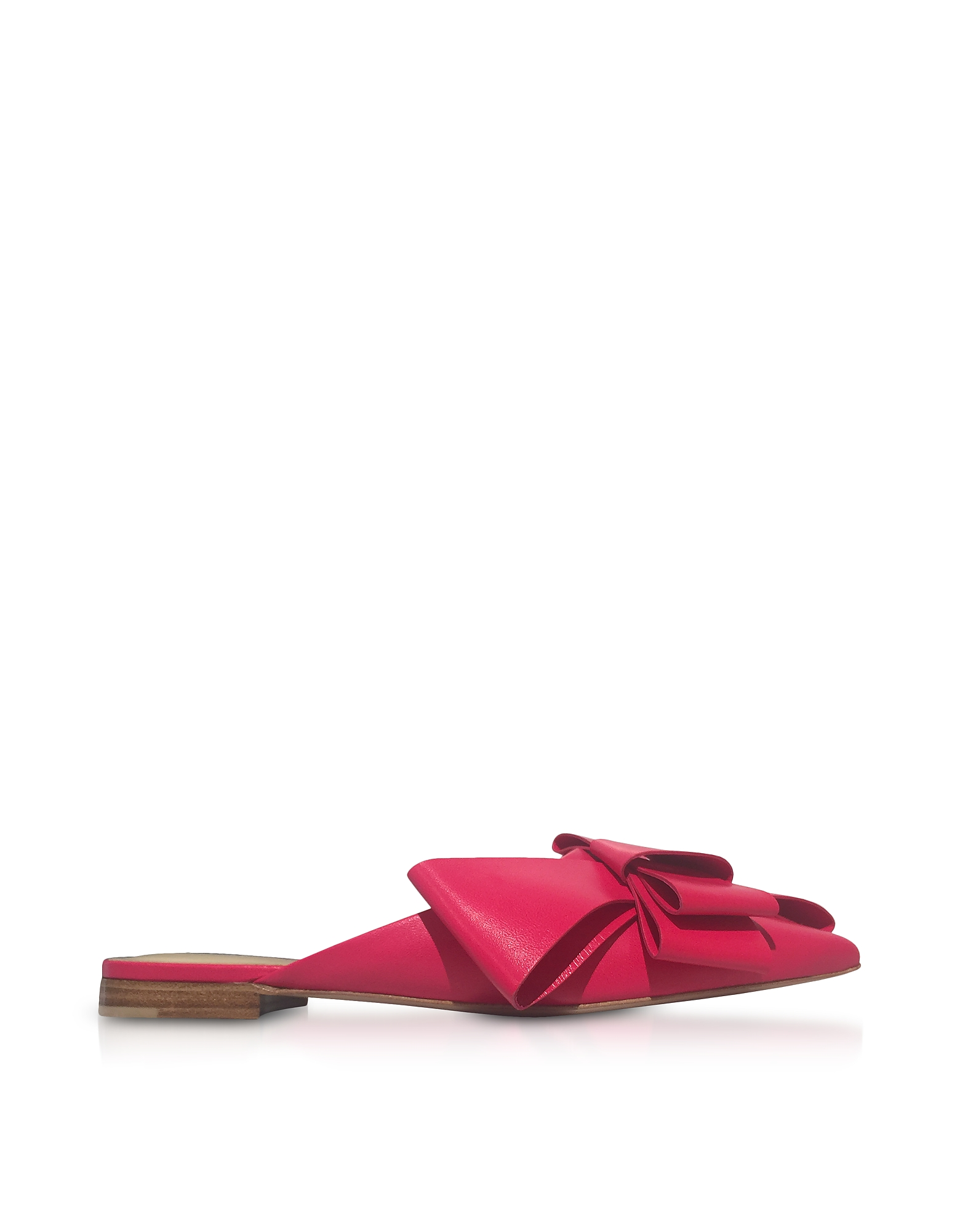 Delpozo Shoes, Genuine Leather Bow Mules