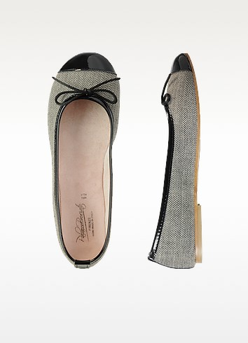 Herringbone Ballerina Shoes - Palazzo Bruciato