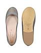 Sophie - Gray Ballerina Shoes - Palazzo Bruciato