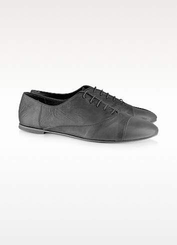 Genny - Leather Lace-Up Shoes - Palazzo Bruciato