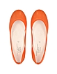 Sophie Orange Leather Ballerina Shoe - Palazzo Bruciato