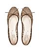 Jodie Brown Perforated Fabric Ballerina Shoe - Palazzo Bruciato