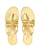 Gold Leather Bow Sandal - Palazzo Bruciato