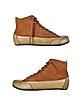 Brown Sheepskin High-Top Sneaker Shoes - Palazzo Bruciato