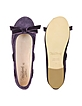Purple Suede Ballerina Shoes - Palazzo Bruciato