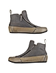 Gray Suede Zip Ankle Boot - Palazzo Bruciato