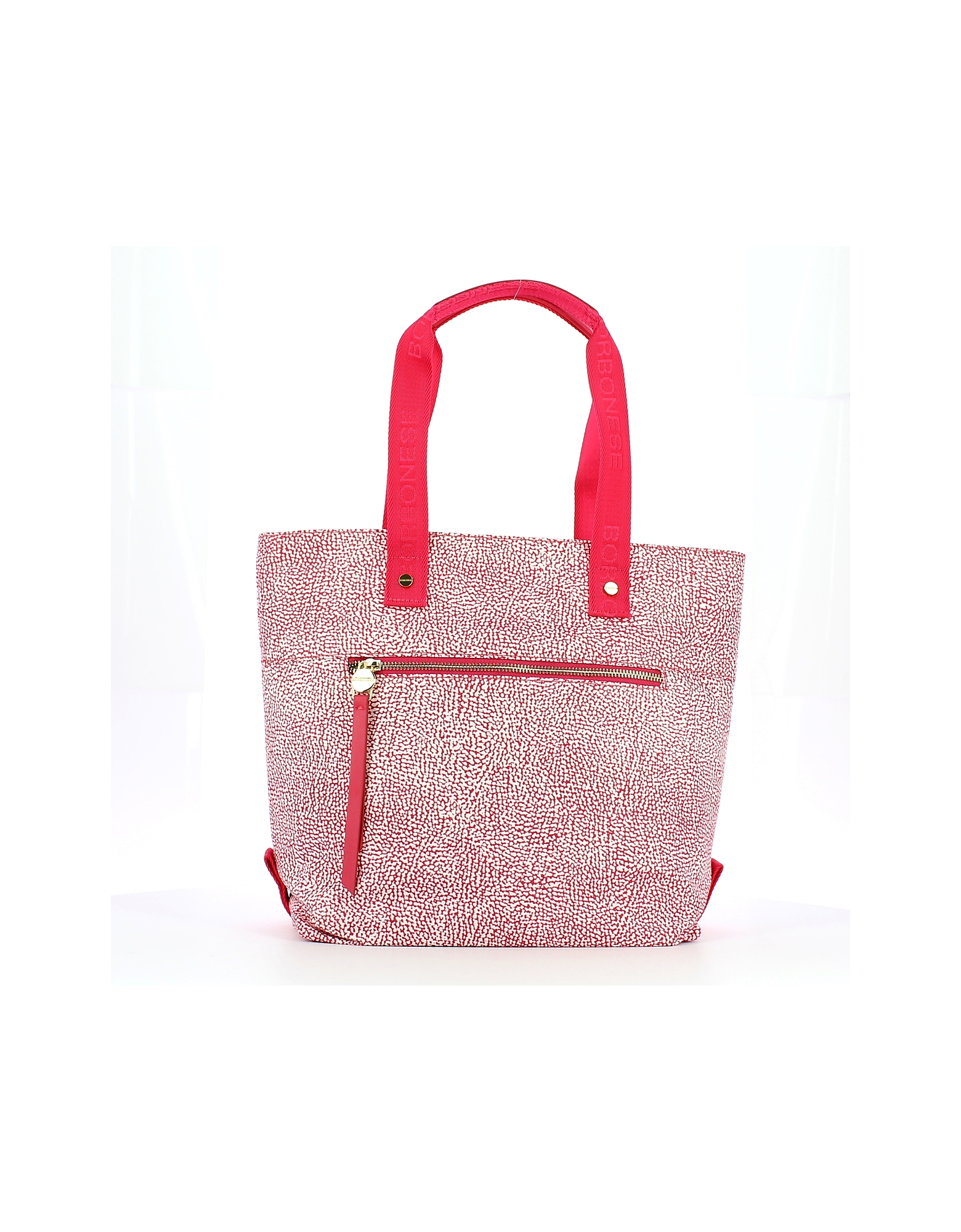 Borbonese Designer Handbags, Pink North South Jet Shopping Bag