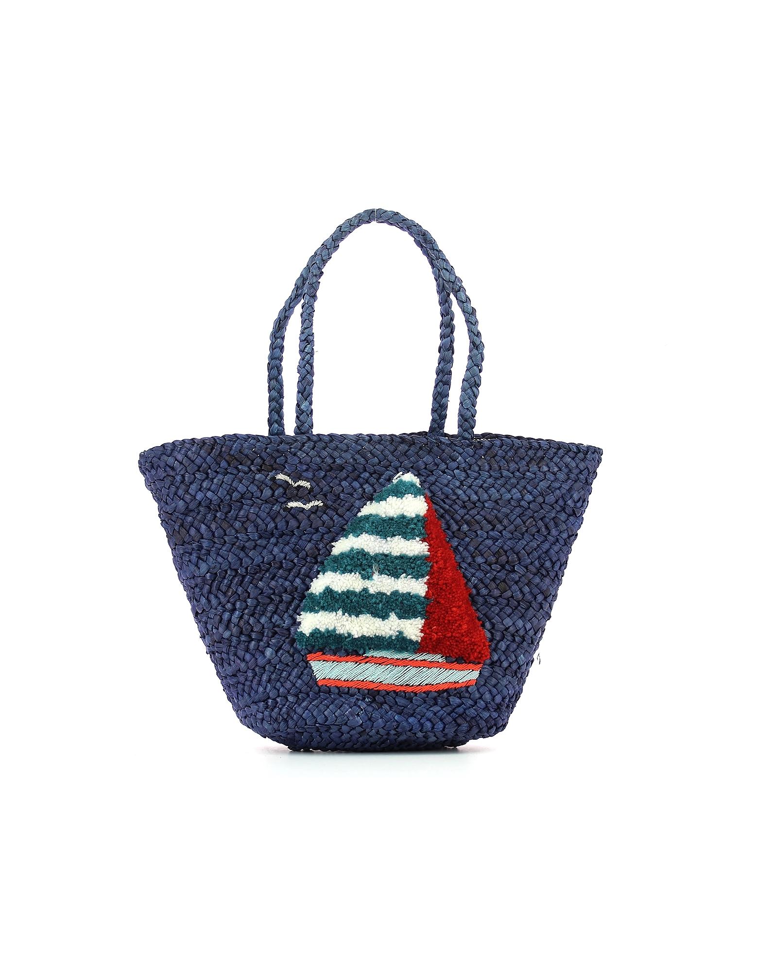 POMIKAKI Designer Handbags, Women's Blue Bag