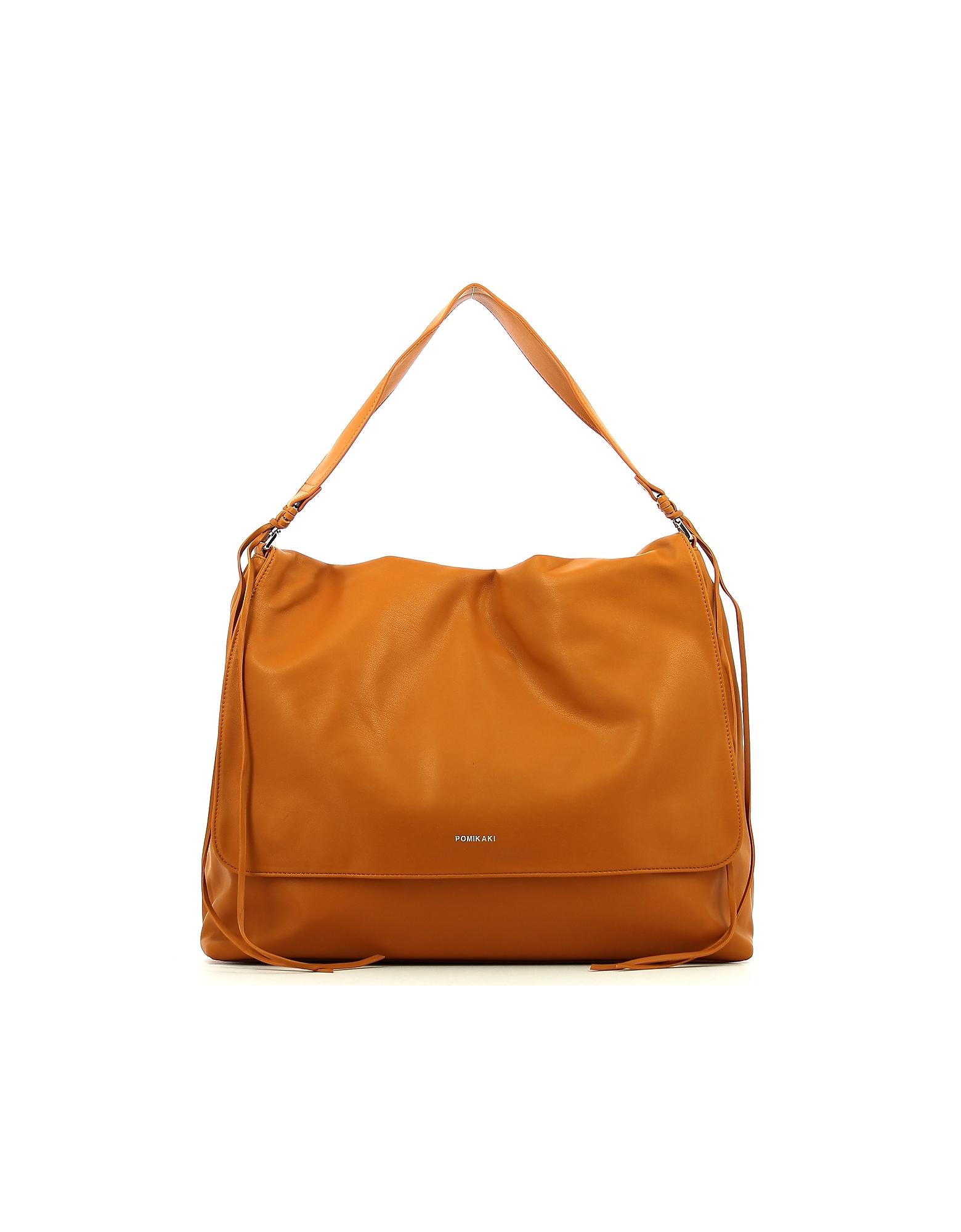 POMIKAKI Designer Handbags, Women's Brown Bag